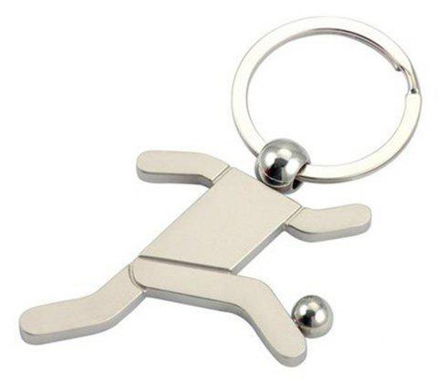 Creative Personality Football Key Ring Jewelry - SILVER