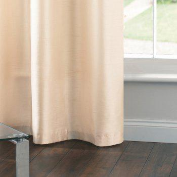 Gyrohome Faux Silk Grommets Top Fully Lined Readymade Flowers  Print Pattern Curtain 1 Panel - GRAY W52 INCH * L95 INCH