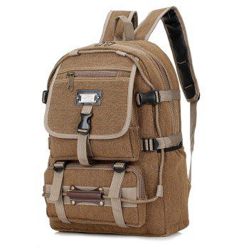 Men's Large-capacity Outdoor Mountaineering Bag Multi-functional Camping Bags - KHAKI
