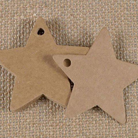 DIHE DIY Five - Pointed Star Party Retro Ornamentation 50PCS - BROWN