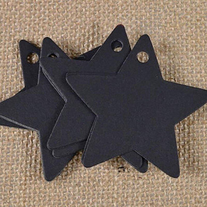 DIHE DIY Five - Pointed Star Party Retro Ornamentation 50PCS - BLACK
