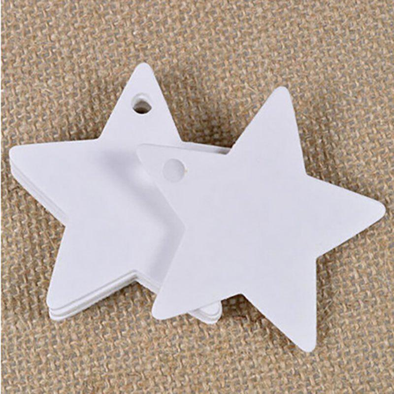 DIHE DIY Five - Pointed Star Party Retro Ornamentation 50PCS - WHITE