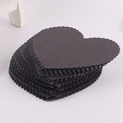 DIHE DIY Heart - Shaped Holiday Party Decorate Retro Card 50PCS - BLACK