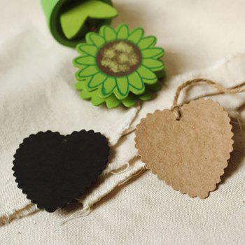DIHE DIY Heart - Shaped Holiday Party Decorate Retro Card 50PCS - BROWN