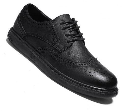Vintage Casual Brock Shoes For Men - BLACK 40