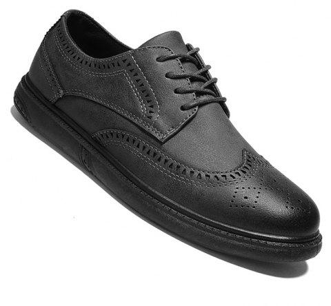 Vintage Casual Brock Shoes For Men - GRAY 42