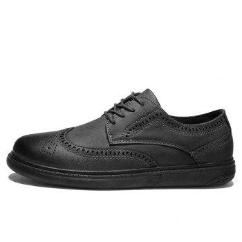 Vintage Casual Brock Shoes For Men - GRAY 44