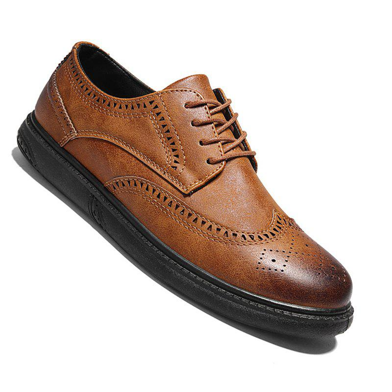 Vintage Casual Brock Shoes For Men - MAIZE 42