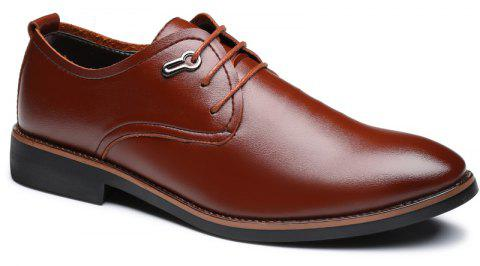 Casual Simple Style Male Business Shoes - BROWN 44