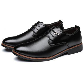 Casual Simple Style Male Business Shoes - BLACK 44