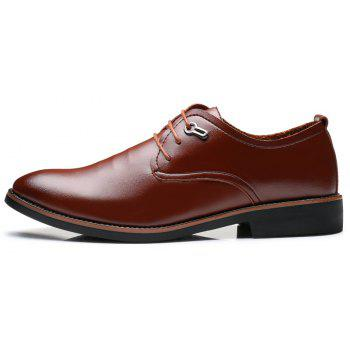 Casual Simple Style Male Business Shoes - BROWN 43