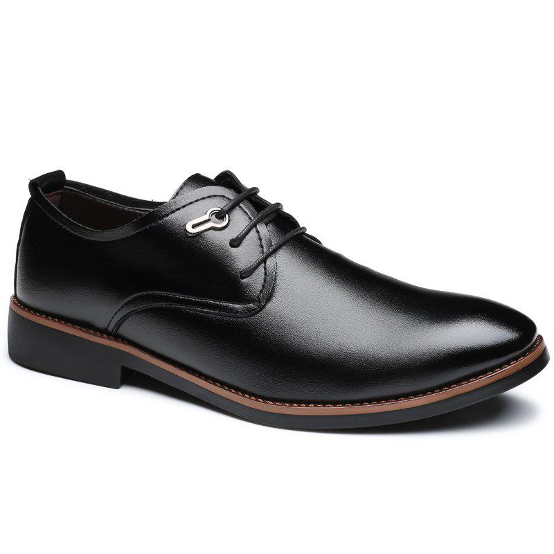 Casual Simple Style Male Business Shoes - BLACK 42