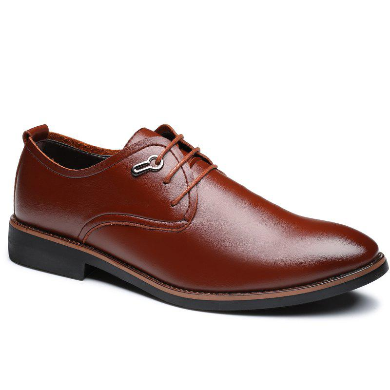 Casual Simple Style Male Business Shoes - BROWN 41