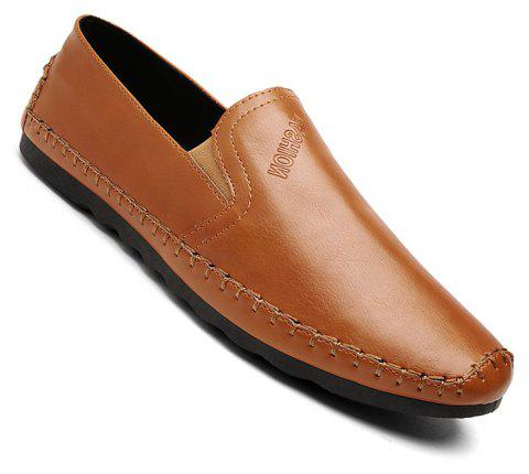 Casual Simple Style Formal Shoes For Men - BROWN 42