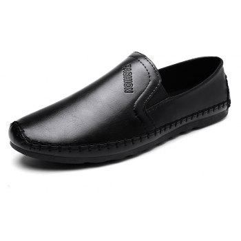 Casual Simple Style Formal Shoes For Men - BLACK 42