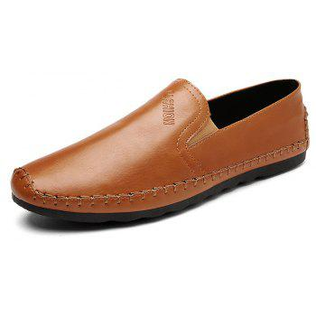 Casual Simple Style Formal Shoes For Men - BROWN 43