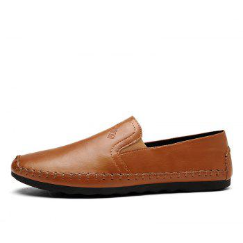 Casual Simple Style Formal Shoes For Men - BROWN 40