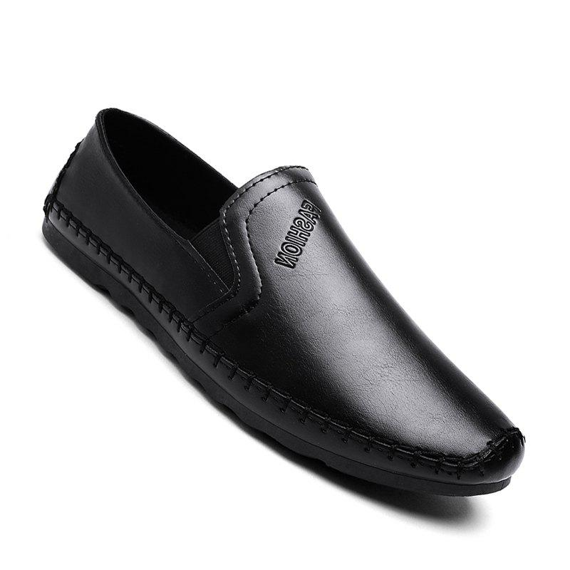 Casual Simple Style Formal Shoes For Men - BLACK 43
