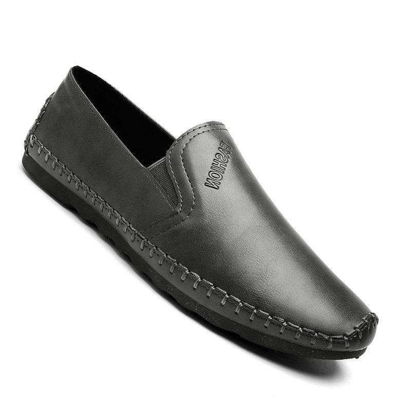 Casual Simple Style Formal Shoes For Men - GRAY 42