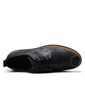 Casual Simple Style Breathable Formal Shoes For Men - BLACK 43