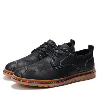Casual Simple Style Breathable Formal Shoes For Men - BLACK 41