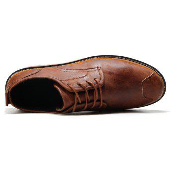 Casual Simple Style Breathable Formal Shoes For Men - BROWN 40