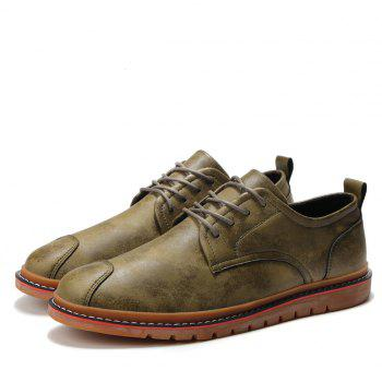 Casual Simple Style Breathable Formal Shoes For Men - KHAKI 43