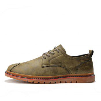 Casual Simple Style Breathable Formal Shoes For Men - KHAKI 44