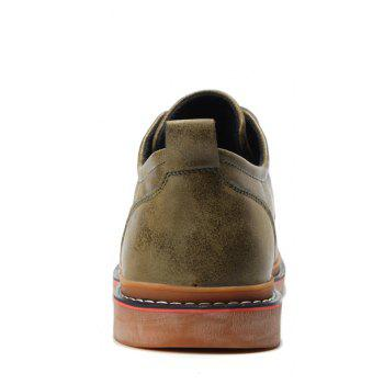 Casual Simple Style Breathable Formal Shoes For Men - KHAKI 42