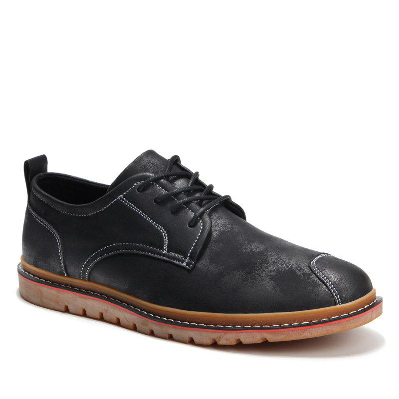Casual Simple Style Breathable Formal Shoes For Men - BLACK 44