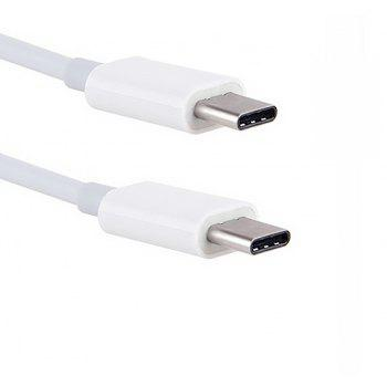 Minismile 1M / 2M 3A Quick Charge USB 3.1 Type-C Male to Male PD Data Charging Cable - WHITE 200CM