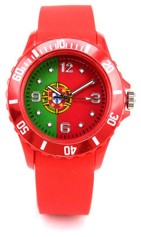 Portuguese National Flag Watch for The World Cup - RED