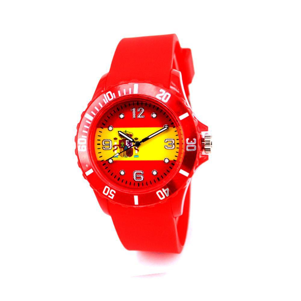 Spanish National Flag Watch for The World Cup - RED