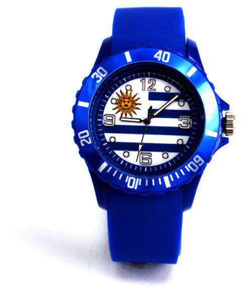 World Cup Commemorative Gift Uruguay Flag Watch - CERULEAN