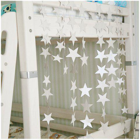 4 Meters of Creative Cardboard Stars Ornaments Decorate Wedding Party Holiday - WHITE 10CM