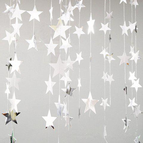 4 Meters Of Creative Cardboard Stars Ornaments Decorate Wedding Party Holiday Silver 10cm