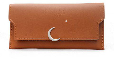 Long Personality Fresh Purse - BROWN