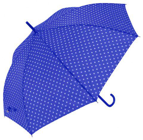 Auto Open Windproof Polka Dot Walking Umbrella Ladies - BLUE 85 X 8 X 2 CM