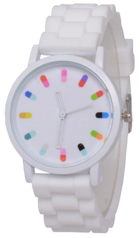Cooho Classic Silicone Women Casual Watch - WHITE