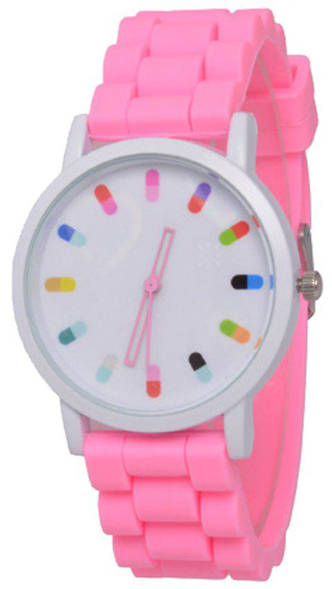 Cooho Classic Silicone Women Casual Watch - PINK