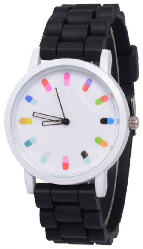 Cooho Classic Silicone Women Casual Watch - BLACK