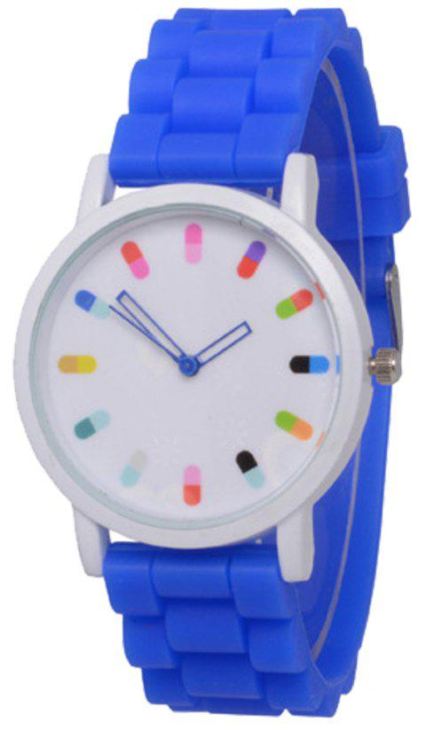 Cooho Classic Silicone Women Casual Watch - BLUE