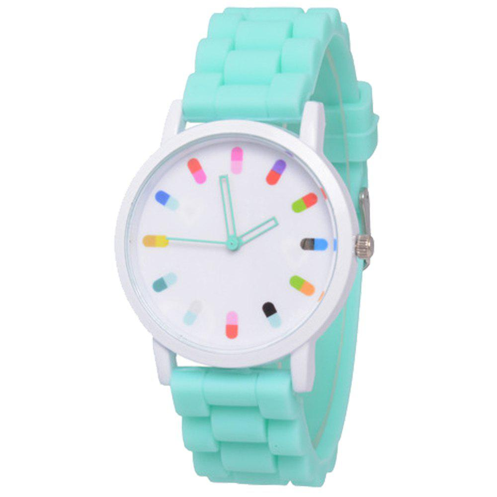 Cooho Classic Silicone Women Casual Watch - GREEN