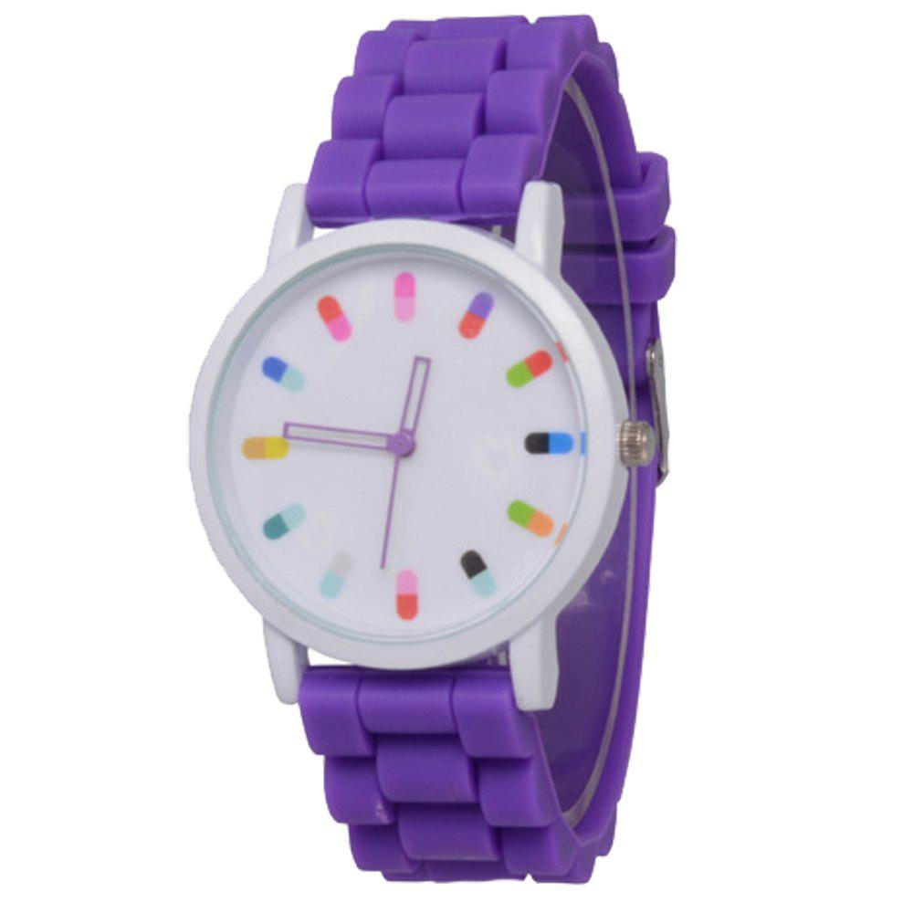 Cooho Classic Silicone Women Casual Watch - PURPLE