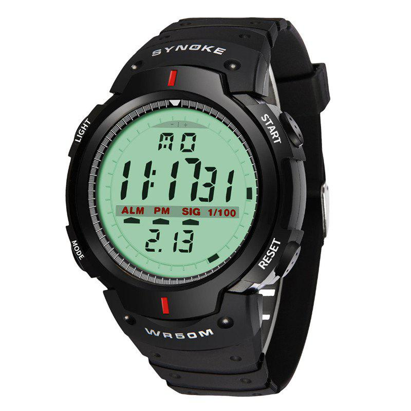 SYNOKE 61577 Sports Men Waterproof Outdoor Watch - BLACK