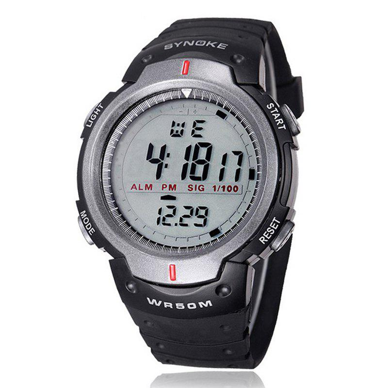 SYNOKE 61577 Sports Men Waterproof Outdoor Watch - GRAY