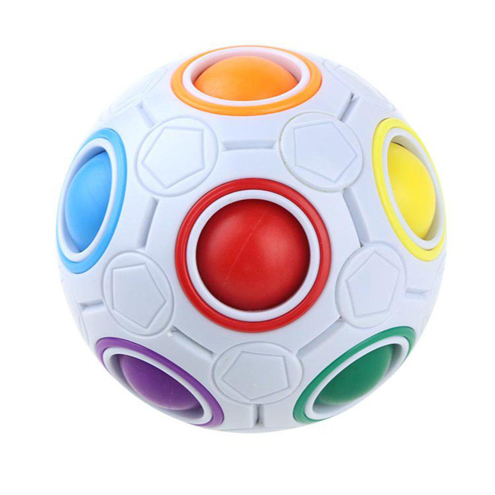 Puzzle Decompression Magic Rainbow Ball Creative Mini Football Rubik Cube - COLOUR