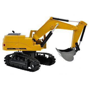 1:24 2.4GHz  8CH RC Alloy Excavator - YELLOW