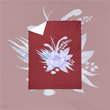 Embroidered Leaf Petals Color Painting Series Three Pieces of Bedding Set Saussurea Sk01 - DEEP RED EURO KING