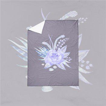 Embroidered Leaf Petals Color Painting Series Three Pieces of Bedding Saussurea Sk01 - GRAY DOUBLE